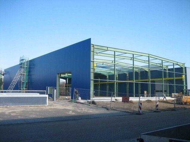 Neubau einer produktionshalle 201443 bsh bentheimer for K verband stahlbau